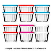 Tigela de Vidro Americano 4210 150ml 12 Peças Cores Sortidas - Nadir -