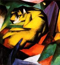 Tigre - Franz Marc - 60x65 - Tela Canvas Para Quadro - Santhatela