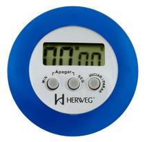 Timer Digital Cronômetro Regressivo Herweg 3308 -  Azul -