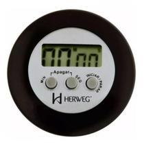 Timer digital temporizador cronometro regressivo com alarme ima para geladeira cozinha herweg preto -