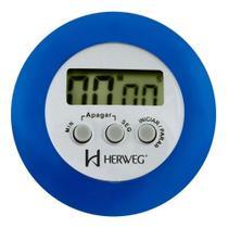 Timer Temporizador Cronômetro Herweg Digital Azul 3308-011 -