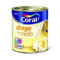 Tinta Acrilica Chega de Mofo Branco Fosco 900ml - Coral -