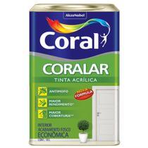 Tinta Acrílica Coral Coralar Econômico Branco Fosco 18 L -