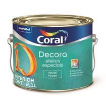 Tinta Acrilica Efeito Velvet/Nuage Base Agua 2,1L - Coral -