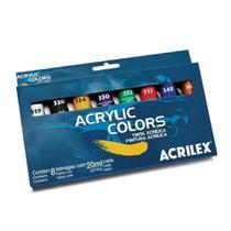 Tinta Acrilica para Tela 20ml Acrilex 08 cores -