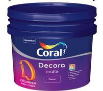 Tinta Acrílica Premium Fosca 10L Branca Decora Coral -