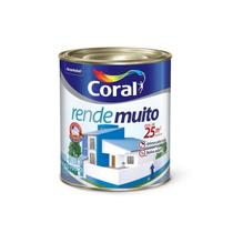 Tinta Acrílica Rende Muito Branco Fosco 900ml - Coral -