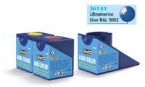 Tinta Aqua Color Azul Ultramarine Brilhante 18ml para Modelismo - Revell -