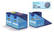 Tinta Aqua Color Cinza Fosco 18ml para Modelismo - Revell -