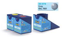 Tinta Aqua Color Cinza Seda 18ml para Modelismo - Revell -
