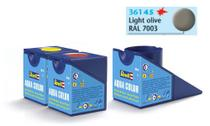 Tinta Aqua Color Oliva Claro Fosco 18ml para Modelismo - Revell -