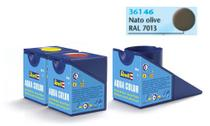 Tinta Aqua Color Oliva NATO Fosco 18ml para Modelismo - Revell -