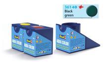 Tinta Aqua Color Preto Esverdeado Fosco 18ml para Modelismo - Revell -