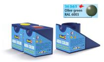 Tinta Aqua Color Verde Oliva Seda 18ml para Modelismo - Revell -