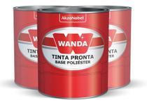 Tinta Automotiva Branco Perolizado Poliéster 900ml - Wanda