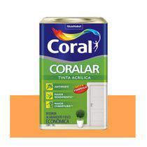 Tinta Coral Coralar Econômica acrílica fosca laranja cítrico 18L -