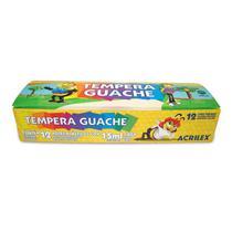 Tinta guache 12 cores 15ml - 02012 - Acrilex -