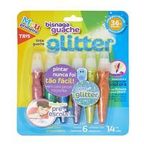 Tinta Guache Bisnaga 6und 14ml Glitter TRIS - SUMMIT