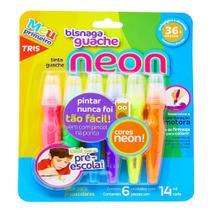 Tinta Guache Bisnaga Neon 14ml 6 Cores TRIS - Summit