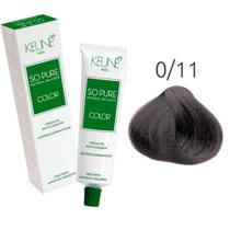 Tinta Keune So Pure 60ml - Cor 0/11 - Azul Cinza -