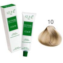 Tinta Keune So Pure 60ml - Cor 10 - Louro Claríssimo -