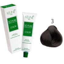Tinta Keune So Pure 60ml - Cor 3 - Castanho Escuro -