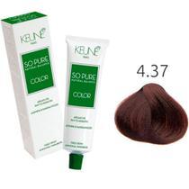 Tinta Keune So Pure 60ml - Cor 4.37 - Castanho Médio Expresso -