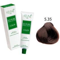Tinta Keune So Pure 60ml - Cor 5.35 - Castanho Claro Chocolate -