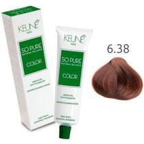 Tinta Keune So Pure 60ml - Cor 6.38 - Louro Escuro Avelã -