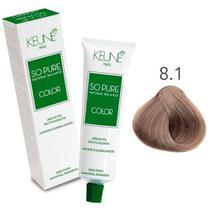 Tinta Keune So Pure 60ml - Cor 8.1 - Louro Claro Cinza -