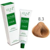 Tinta Keune So Pure 60ml - Cor 8.3 - Loiro Claro Dourado -