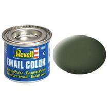 Tinta plastimodelismo verde bronze fosco - 14ml esmalte sintético rev 32165 - Revell