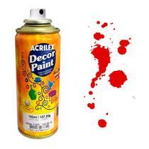 Tinta Spray Decor Paint Acrilex 150 ml Vermelho - 523 -