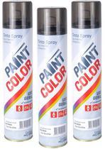 Tinta Spray Paintcolor Uso Geral Grafite 400ml Carro 3 Unidades -