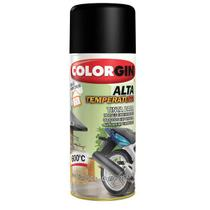 Tinta Spray Preto 300ML 250GR Fosco Alta Temperatura - Decor - Decor colorgin