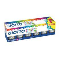 Tinta Tempera Guache Giotto 6 Cores -