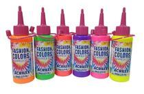 Tinta Tie Dye Aquarela Silk Acrilex Kit 6 Cores Neon 60 mL -