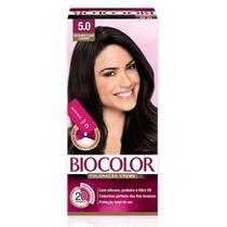 Tintura Biocolor Coloração Creme Castanho Claro 5.0 Mini Kit -