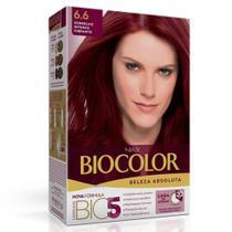 Tintura Biocolor Creme - Vermelho Intenso 6.6 -