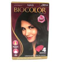 Tintura Biocolor Kit Creme Castanho Claro Acinzentado 5.1 -