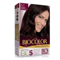 Tintura Biolocor Creme Marrom Natural 6.7 - Biocolor