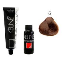 Tintura Color Keune Cor 6 Louro Escuro + Creme Oxidante Keune 6% 20 volumes -