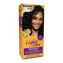 Tintura Creme Salon Line Light Color Preto 2.0 -