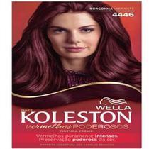 Tintura permanente koleston 4446 borgonha vibrante - Sem marca