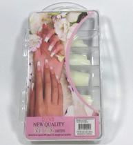 Tips - 500 Unhas Nail Reta Acrigel Leitosa Na Caixa - Nail Tips