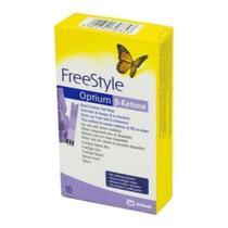 Tira De Cetose (cetona) Freestyle Optium Ketone (10 Tiras) -