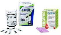Tiras reagentes com 50 unidades Free Lite + 50 lancetas - G-Tech