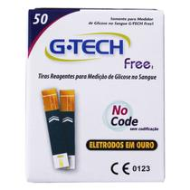 Tiras reagentes g-tech free c/50un -