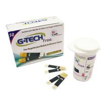 Tiras Reagentes Para Glicosímetro G-tech Free 1 Com 50 Unidades -