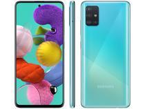 "Smartphone Samsung Galaxy A51 128GB Azul 4G - 4GB RAM 6,5"" Câm. Quádrupla + Câm. Selfie 32MP"